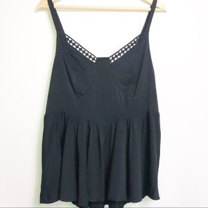 Torrid Black Babydoll Tank Top 0